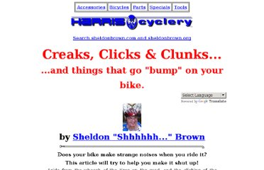 http://www.sheldonbrown.com/creaks.html#bottom