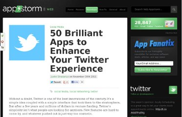 http://web.appstorm.net/roundups/social-media-roundups/50-brilliant-apps-to-enhance-your-twitter-experience/