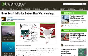 http://www.treehugger.com/sustainable-product-design/ikeas-social-initiative-debuts-new-wall-hangings.html