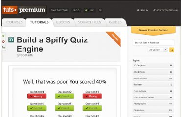 http://tutsplus.com/tutorial/build-a-spiffy-quiz-engine/