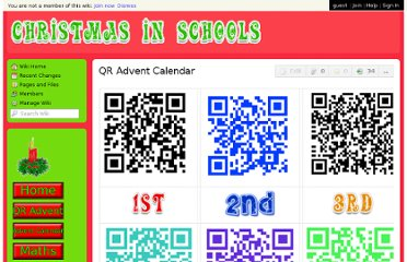 http://christmasinschools.wikispaces.com/QR+Advent+Calendar