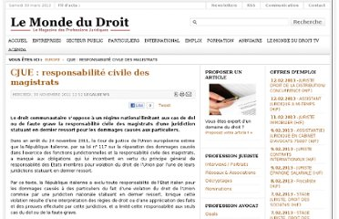 http://www.lemondedudroit.fr/europe-international/158619-cjue-responsabilite-civile-des-magistrats.html