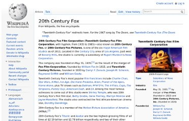http://en.wikipedia.org/wiki/20th_Century_Fox