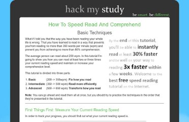 http://hackmystudy.com/how_to_speed_read_and_comprehend.html