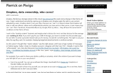 http://piwigo.wordpress.com/2011/07/04/dropbox-data-ownership-who-cares/