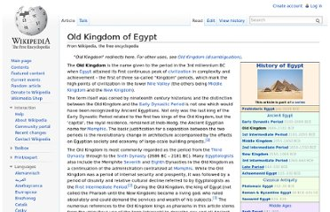 http://en.wikipedia.org/wiki/Old_Kingdom_of_Egypt