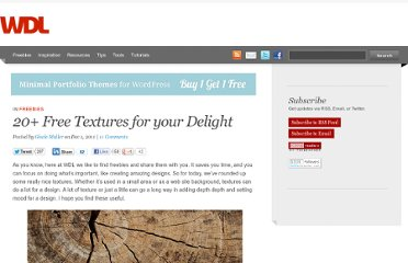 http://webdesignledger.com/freebies/20-free-textures-for-your-delight