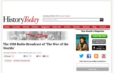 http://www.historytoday.com/blog/2011/10/1938-radio-broadcast-war-worlds