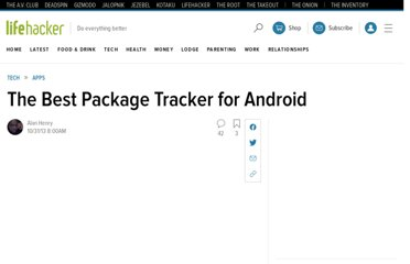 http://lifehacker.com/5864036/the-best-package-tracker-for-android