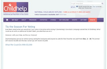 http://www.childhelp.org/pages/vote-for-childhelp