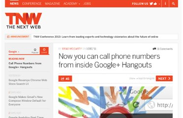 http://thenextweb.com/google/2011/12/01/now-you-can-call-phone-numbers-from-inside-google-hangouts/