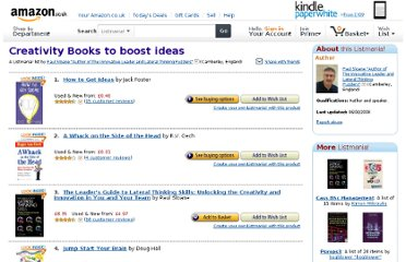 http://www.amazon.co.uk/Creativity-Books-to-boost-ideas/lm/13ZPLF33X7K1S