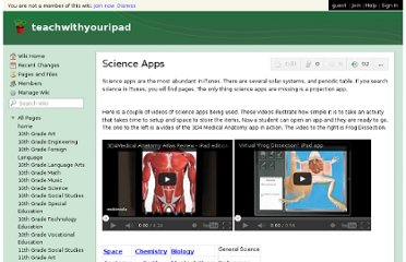 http://teachwithyouripad.wikispaces.com/Science+Apps