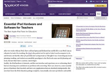 http://voices.yahoo.com/essential-ipad-hardware-software-teachers-5943742.html