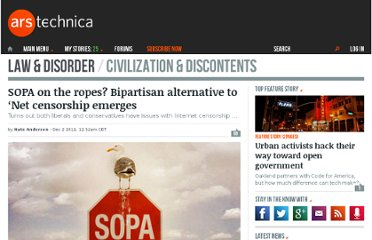 http://arstechnica.com/tech-policy/news/2011/12/sopa-on-the-ropes-bipartisan-alternative-to-net-censorship-emerges.ars