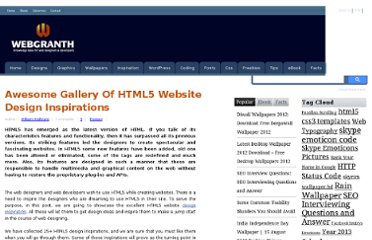 http://www.webgranth.com/awesome-gallery-of-html5-website-design-inspirations