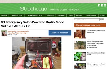 http://www.treehugger.com/clean-technology/3-emergency-solar-powered-radio-made-with-an-altoids-tin.html