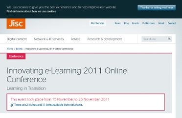http://www.jisc.ac.uk/events/2011/11/innovatingelearning.aspx