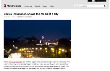 http://flowingdata.com/2011/12/02/smiley-installation-shows-the-mood-of-a-city/