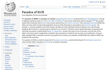 http://en.wikipedia.org/wiki/Paradox_of_thrift