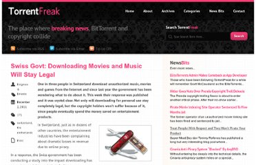 http://torrentfreak.com/swiss-govt-downloading-movies-and-music-will-stay-legal-111202/