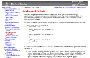 http://docs.oracle.com/javase/tutorial/essential/concurrency/syncmeth.html