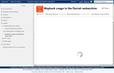 https://sbforge.org/display/NAS/Wayback+usage+in+the+Danish+webarchive