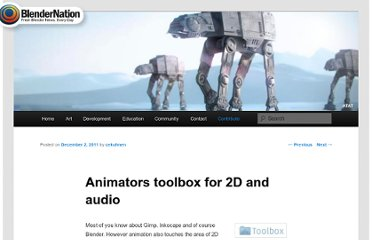 http://www.blendernation.com/2011/12/02/animators-toolbox-for-2d-and-audio/