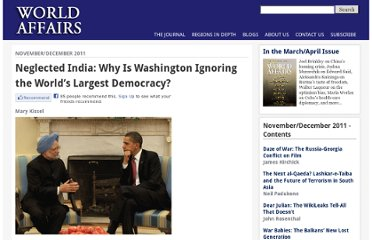 http://www.worldaffairsjournal.org/article/neglected-india-why-washington-ignoring-world%E2%80%99s-largest-democracy