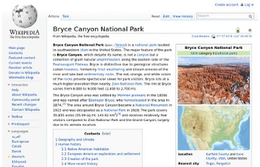 http://en.wikipedia.org/wiki/Bryce_Canyon_National_Park