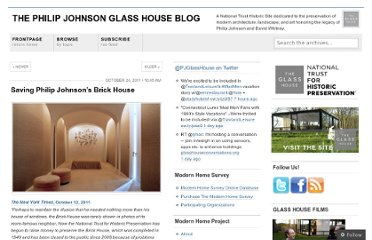 http://philipjohnsonglasshouse.wordpress.com/2011/10/24/saving-philip-johnsons-brick-house/