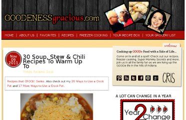 http://goodenessgracious.com/2011/11/30-soups-stews-chilies-to-warm-up-to.html