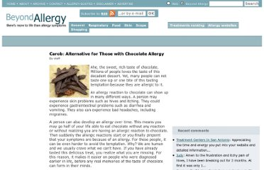 http://www.beyondallergy.com/food-allergies/chocolate-allergy.php