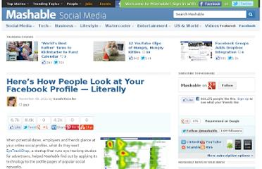 http://mashable.com/2011/11/30/social-profile-eye-tracking/#36347Flickr