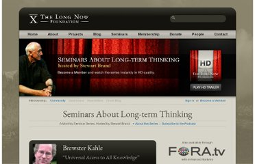 http://longnow.org/seminars/02011/nov/30/universal-access-all-knowledge/