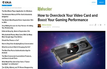 http://lifehacker.com/5864640/how-to-overclock-your-video-card-and-boost-your-gaming-performance