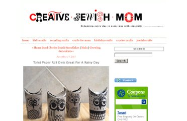 http://www.creativejewishmom.com/2011/11/toilet-paper-roll-owls-great-for-a-rainy-day.html