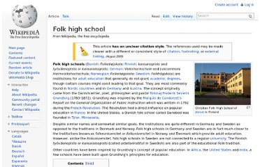 http://en.wikipedia.org/wiki/Folk_high_school