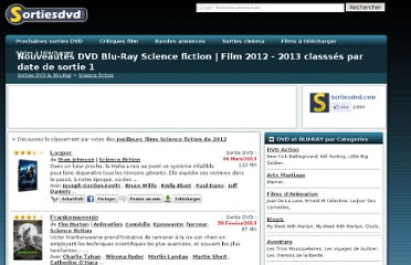 http://www.sortiesdvd.com/dvd/genre/Science+fiction/1
