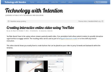 http://www.techwithintent.com/2011/10/creating-interactive-online-video-using-youtube/