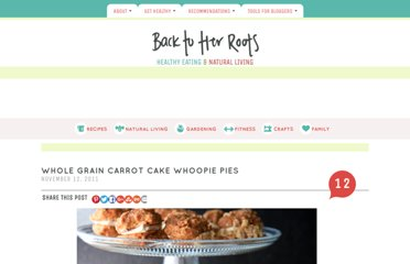 http://backtoherroots.com/2011/11/12/whole-grain-carrot-cake-whoopie-pies/