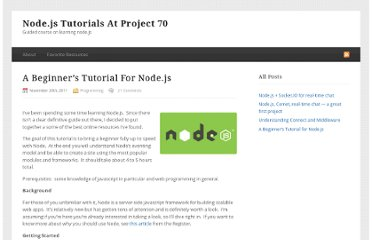 http://project70.com/nodejs/beginners-tutorial-node-js/