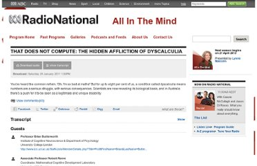 http://www.abc.net.au/radionational/programs/allinthemind/that-does-not-compute-the-hidden-affliction-of/2996350
