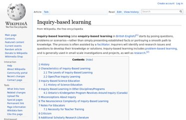 http://en.wikipedia.org/wiki/Inquiry-based_learning