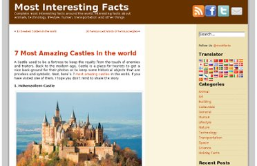 http://www.mostinterestingfacts.com/building/7-most-amazing-castles-in-the-world.html