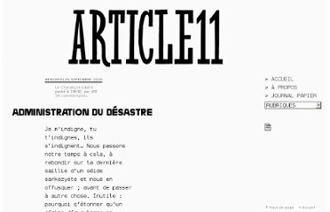 http://www.article11.info/?Administration-du-desastre