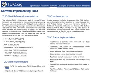 http://www.tuio.org/?software