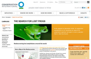 http://www.conservation.org/campaigns/lost_frogs/Pages/search_for_lost_amphibians.aspx