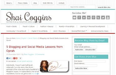 http://www.shaicoggins.com/5-blogging-and-social-media-lessons-from-oprah/