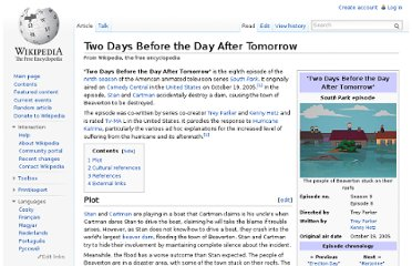 http://en.wikipedia.org/wiki/Two_Days_Before_the_Day_After_Tomorrow